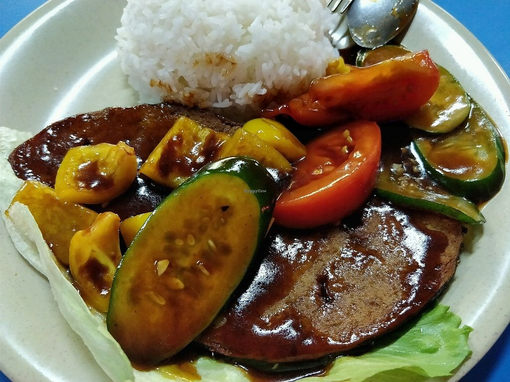 """Photo of Hong Fu Vegetarian  by <a href=""""/members/profile/JimmySeah"""">JimmySeah</a> <br/>sweet and sour (mock) fish with rice <br/> December 31, 2017  - <a href='/contact/abuse/image/107046/341302'>Report</a>"""