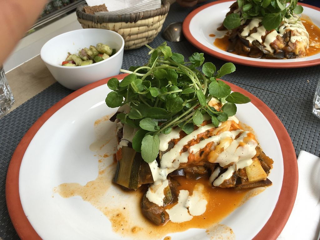 """Photo of Polen Restaurant  by <a href=""""/members/profile/peas-full"""">peas-full</a> <br/>veggie lasagna with vegan cream cheese <br/> December 13, 2017  - <a href='/contact/abuse/image/107055/335228'>Report</a>"""
