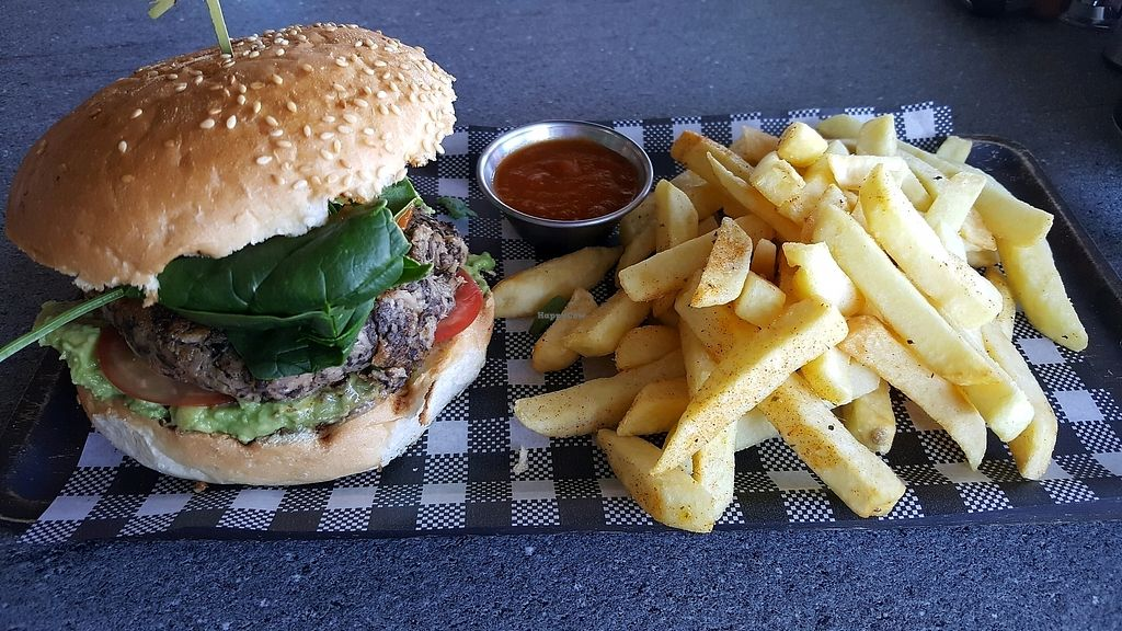 """Photo of The Coffee Factory  by <a href=""""/members/profile/JenLynch"""">JenLynch</a> <br/>Vegan burger - beautiful combination of flavours. Chips were delish too! <br/> December 27, 2017  - <a href='/contact/abuse/image/107076/339502'>Report</a>"""