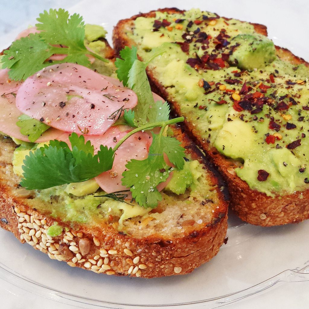 """Photo of Press Brothers Juicery and Kitchen  by <a href=""""/members/profile/pressbrothers"""">pressbrothers</a> <br/>Avocado Toast with Clark Street Bread <br/> December 12, 2017  - <a href='/contact/abuse/image/107078/334834'>Report</a>"""