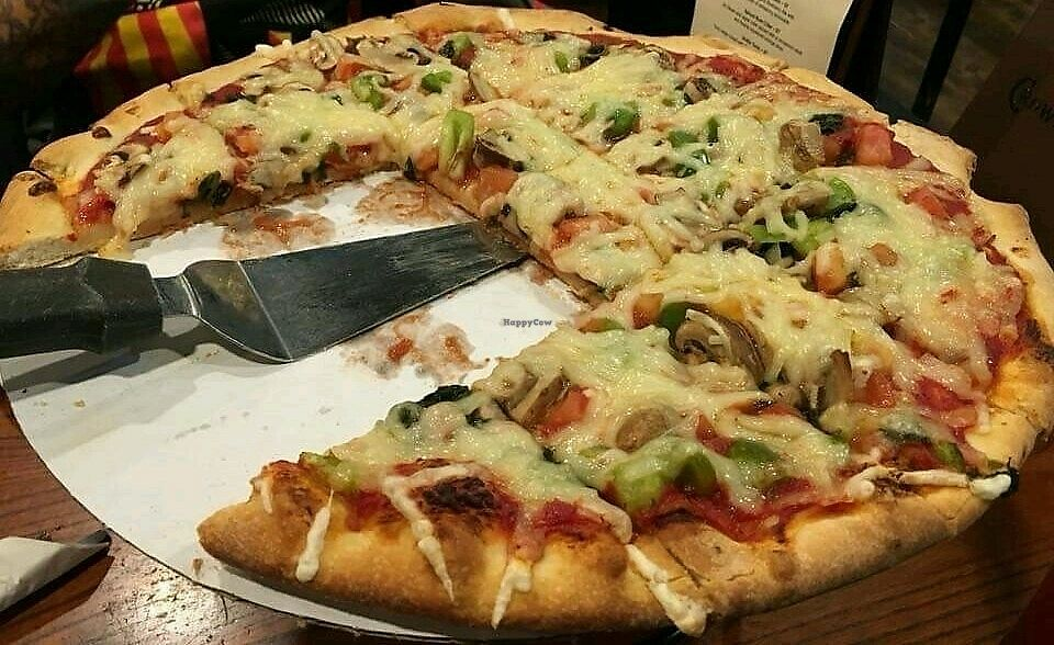 "Photo of Carriage Court Pizza  by <a href=""/members/profile/RosieTheVegan"">RosieTheVegan</a> <br/>Vegan pizza! <br/> December 13, 2017  - <a href='/contact/abuse/image/107119/335150'>Report</a>"