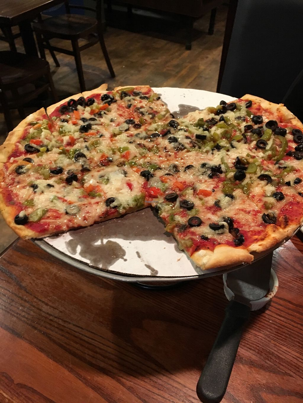 "Photo of Carriage Court Pizza  by <a href=""/members/profile/VeganLew"">VeganLew</a> <br/>Thin crust pizza  <br/> February 12, 2018  - <a href='/contact/abuse/image/107119/358565'>Report</a>"