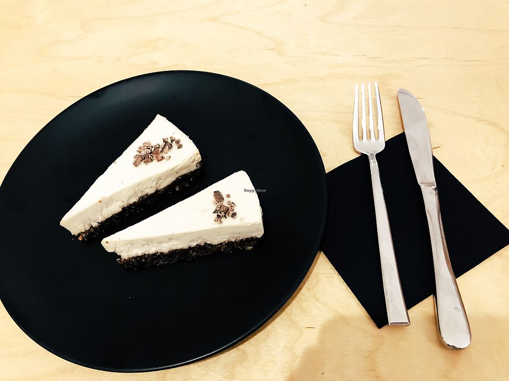"""Photo of YayaRaw - Alsancak  by <a href=""""/members/profile/veganoteacher"""">veganoteacher</a> <br/>Vegan Cheesecake with Mastic <br/> December 16, 2017  - <a href='/contact/abuse/image/107126/336045'>Report</a>"""