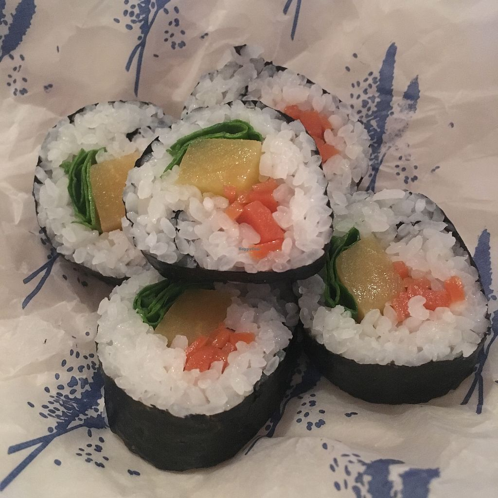 """Photo of Wa Cafe  by <a href=""""/members/profile/AvrilTkd"""">AvrilTkd</a> <br/>Turnip Sushi Roll <br/> December 12, 2017  - <a href='/contact/abuse/image/107142/335042'>Report</a>"""