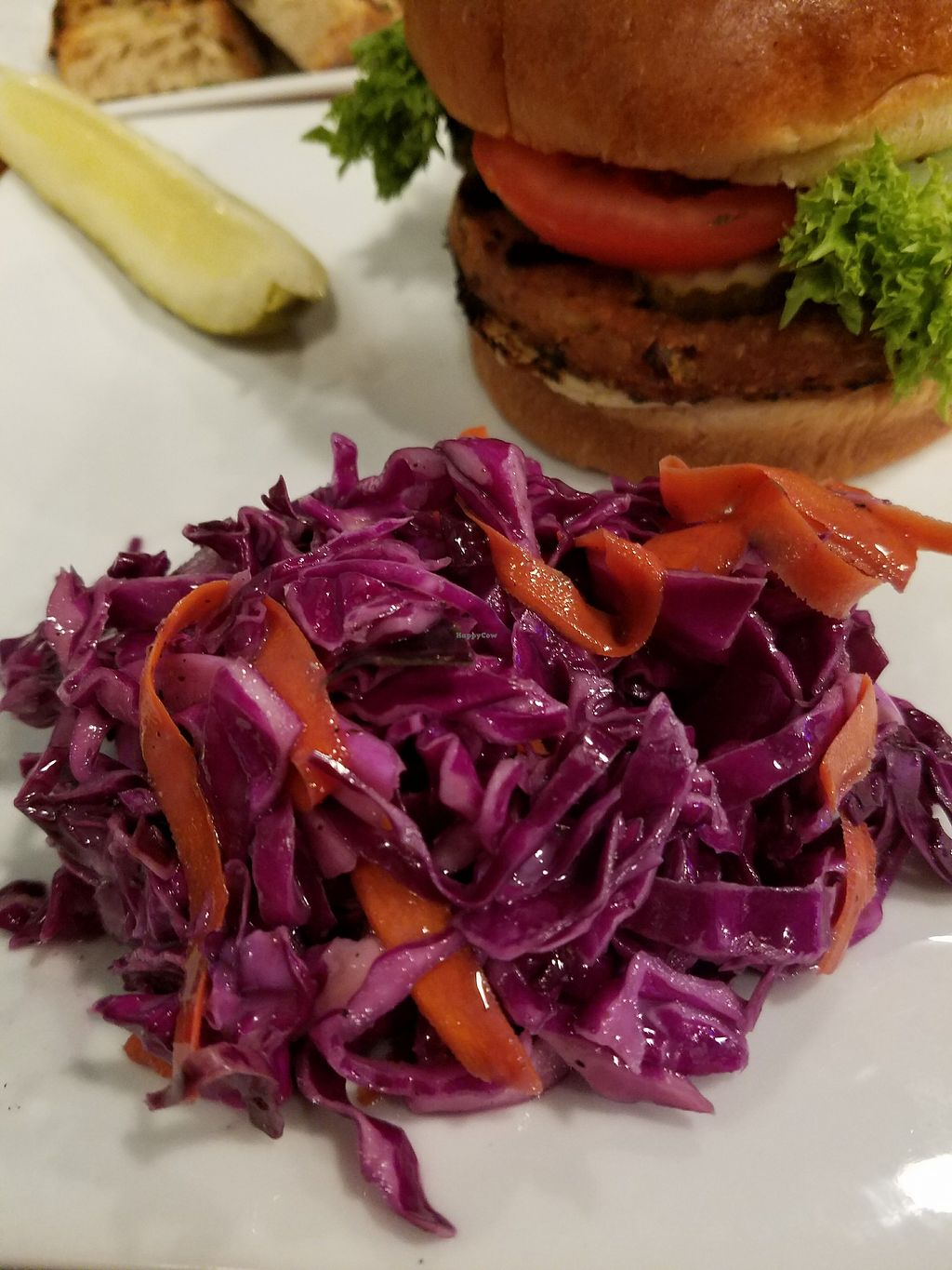"""Photo of Feed the World Cafe  by <a href=""""/members/profile/MerryRose"""">MerryRose</a> <br/>vegan blackberry cabbage/carrot slaw <br/> December 12, 2017  - <a href='/contact/abuse/image/107152/335080'>Report</a>"""