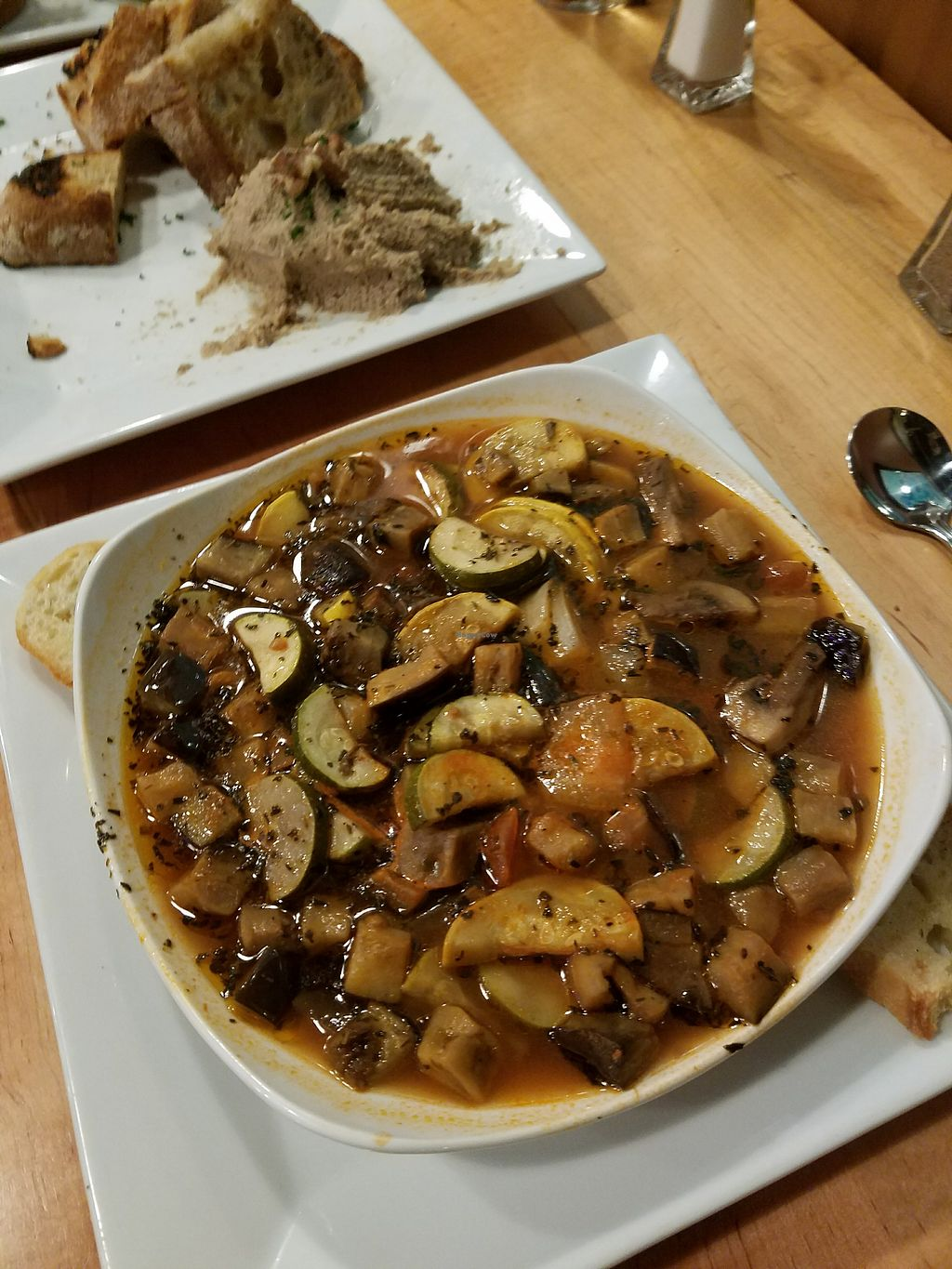 """Photo of Feed the World Cafe  by <a href=""""/members/profile/MerryRose"""">MerryRose</a> <br/>vegan ratatouille <br/> December 12, 2017  - <a href='/contact/abuse/image/107152/335083'>Report</a>"""