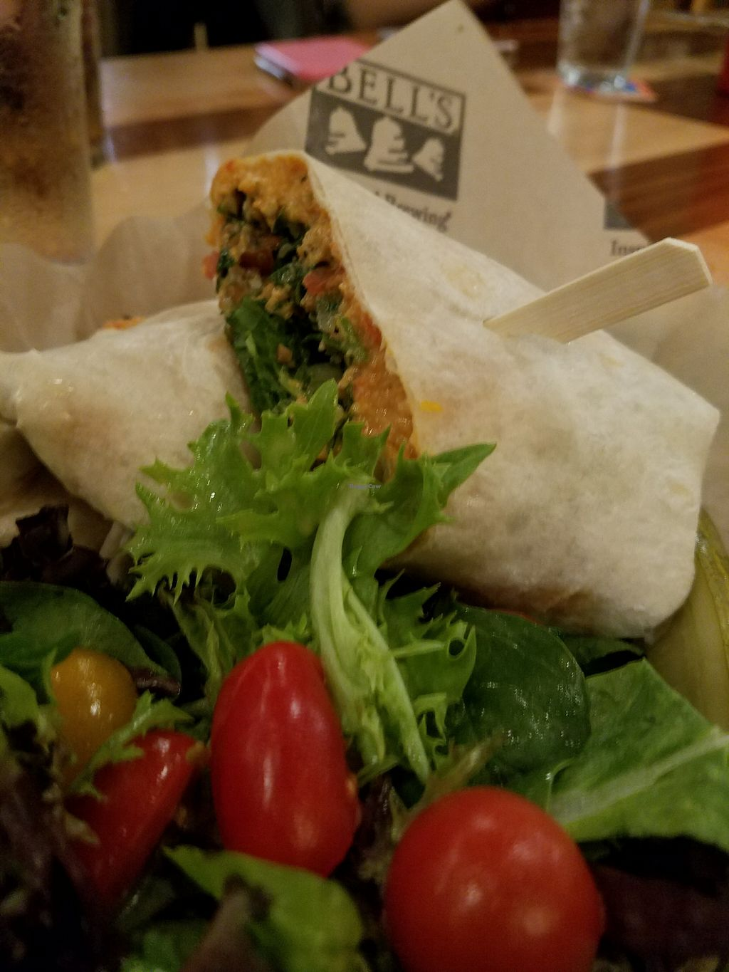 "Photo of Bell's Brewery  by <a href=""/members/profile/MerryRose"">MerryRose</a> <br/>Hummus Tabouleh wrap <br/> December 12, 2017  - <a href='/contact/abuse/image/107156/335067'>Report</a>"