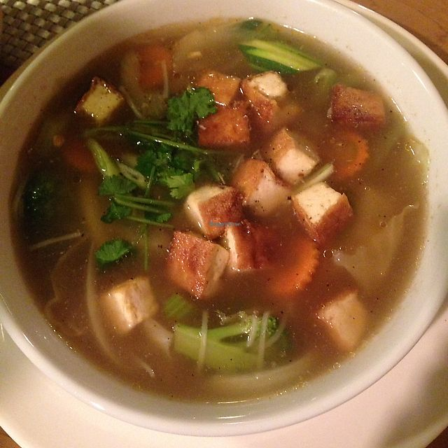 """Photo of Thai Vegan  by <a href=""""/members/profile/celestialcelestestaar"""">celestialcelestestaar</a> <br/>yummy wonton soup! <br/> December 18, 2017  - <a href='/contact/abuse/image/107165/337040'>Report</a>"""
