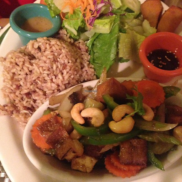 """Photo of Thai Vegan  by <a href=""""/members/profile/celestialcelestestaar"""">celestialcelestestaar</a> <br/>cashew dish <br/> December 18, 2017  - <a href='/contact/abuse/image/107165/337041'>Report</a>"""