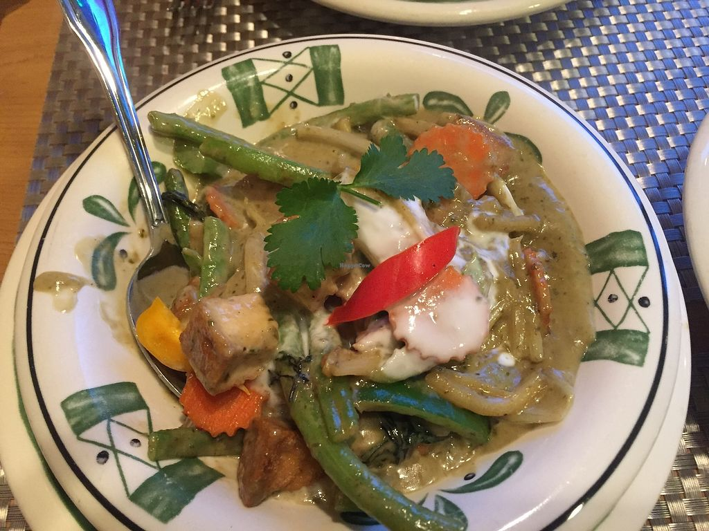 """Photo of Thai Vegan  by <a href=""""/members/profile/Suz"""">Suz</a> <br/>Green Curry veggies w/tofu <br/> December 24, 2017  - <a href='/contact/abuse/image/107165/338553'>Report</a>"""