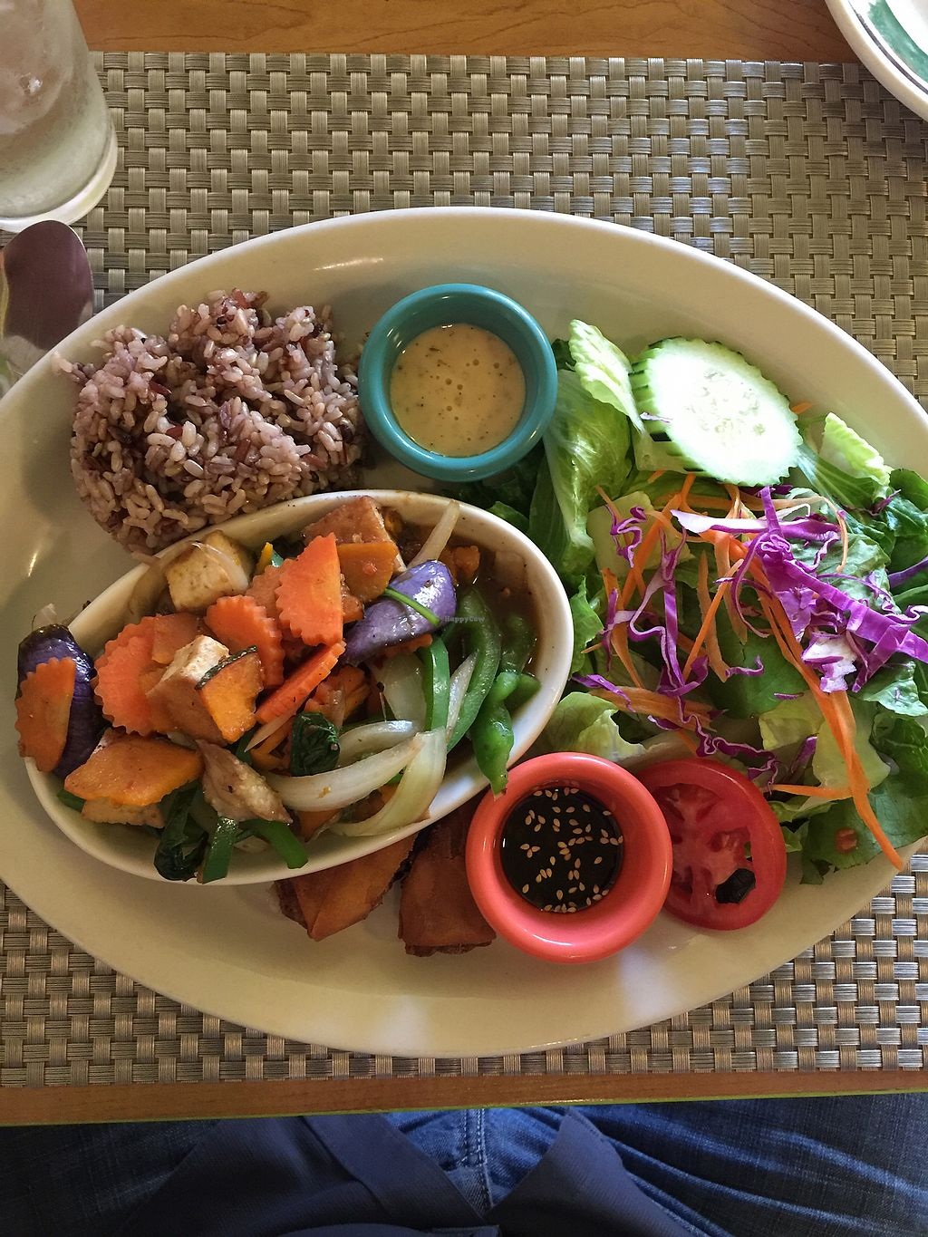 """Photo of Thai Vegan  by <a href=""""/members/profile/ragenA"""">ragenA</a> <br/>PET, pumpkin eggplant and tofu dinner combo <br/> March 2, 2018  - <a href='/contact/abuse/image/107165/365881'>Report</a>"""