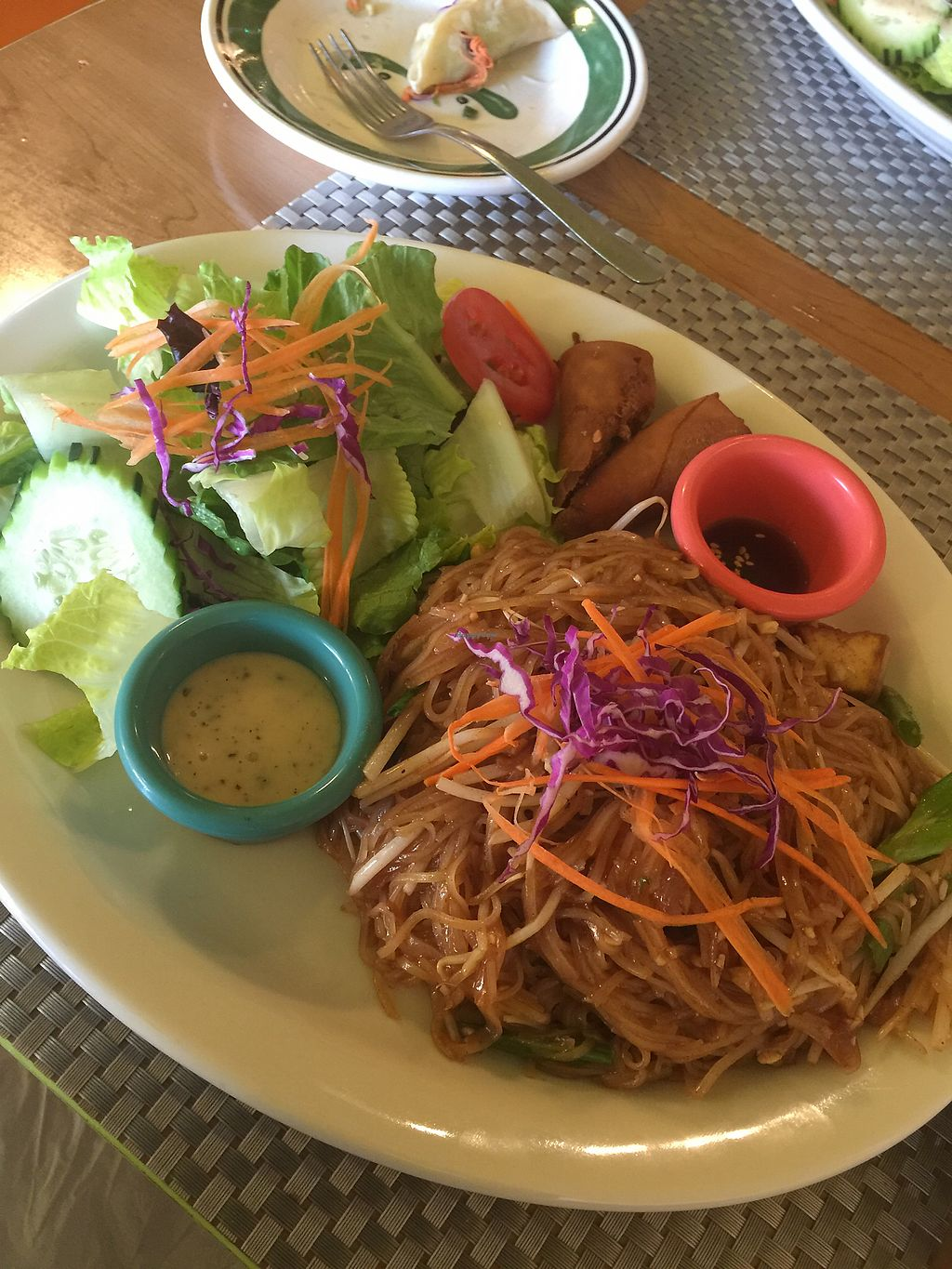 """Photo of Thai Vegan  by <a href=""""/members/profile/ragenA"""">ragenA</a> <br/>Pad Thai dinner combo <br/> March 2, 2018  - <a href='/contact/abuse/image/107165/365882'>Report</a>"""