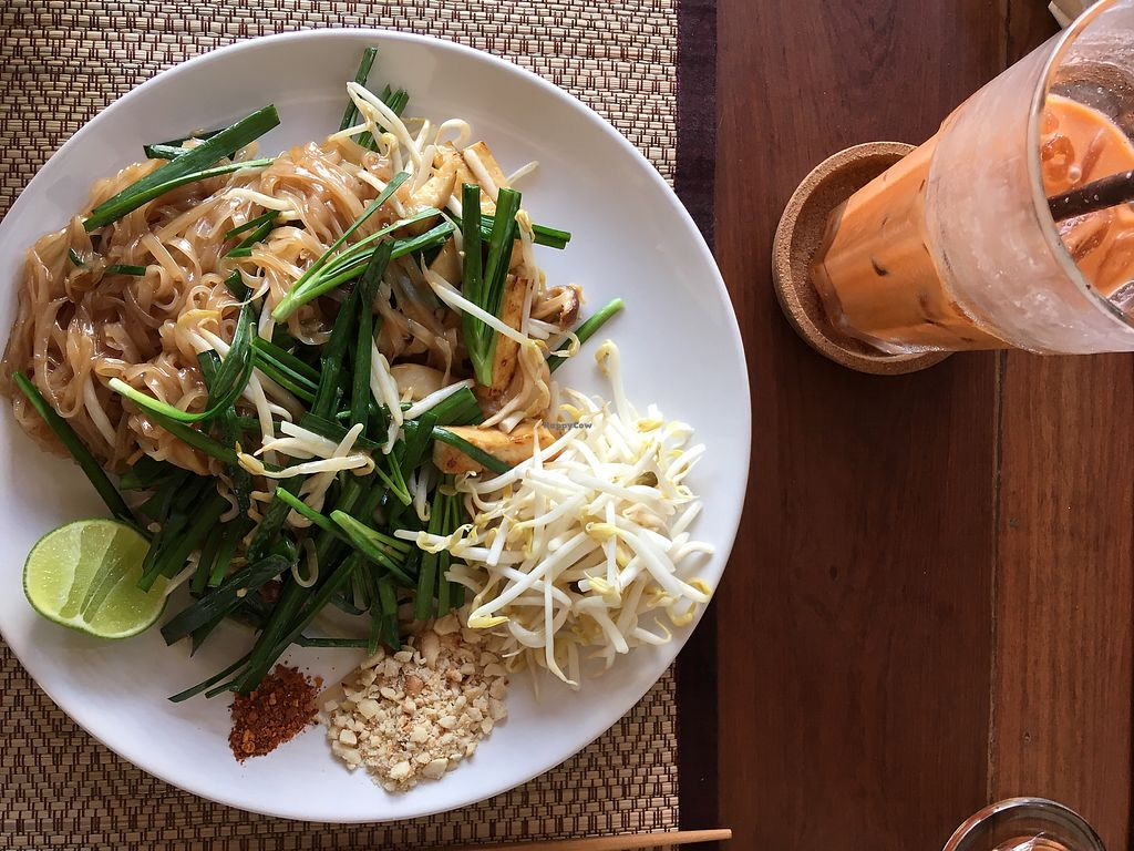 "Photo of Goodsouls Kitchen  by <a href=""/members/profile/ecoluv"">ecoluv</a> <br/>Pad thai & Thai iced tea <br/> February 27, 2018  - <a href='/contact/abuse/image/107183/364451'>Report</a>"