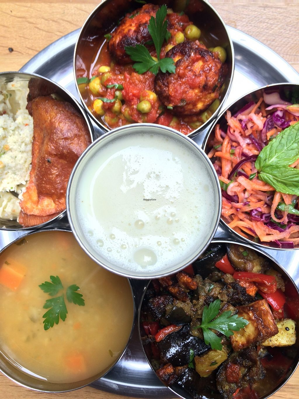 """Photo of Govinda Cafe - Mecidiyekoy  by <a href=""""/members/profile/govindaistanbul"""">govindaistanbul</a> <br/>Daily changing menu  <br/> March 29, 2018  - <a href='/contact/abuse/image/107187/377625'>Report</a>"""