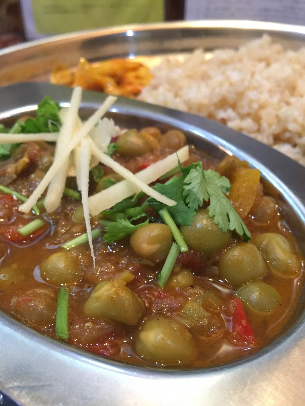 """Photo of Sacches Curry  by <a href=""""/members/profile/TheWorldDigested"""">TheWorldDigested</a> <br/>Pea curry <br/> December 14, 2017  - <a href='/contact/abuse/image/107203/335649'>Report</a>"""