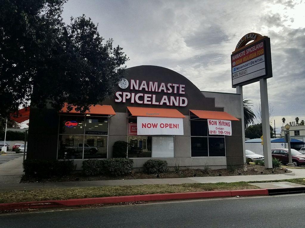 "Photo of Namaste Spiceland  by <a href=""/members/profile/VegGuyLA"">VegGuyLA</a> <br/>outside <br/> January 3, 2018  - <a href='/contact/abuse/image/107206/342642'>Report</a>"