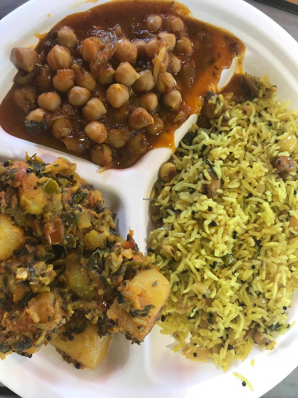 """Photo of Namaste Spiceland  by <a href=""""/members/profile/animalattorney"""">animalattorney</a> <br/>Vegan Options at Spiceland Lunch =) <br/> February 13, 2018  - <a href='/contact/abuse/image/107206/358814'>Report</a>"""