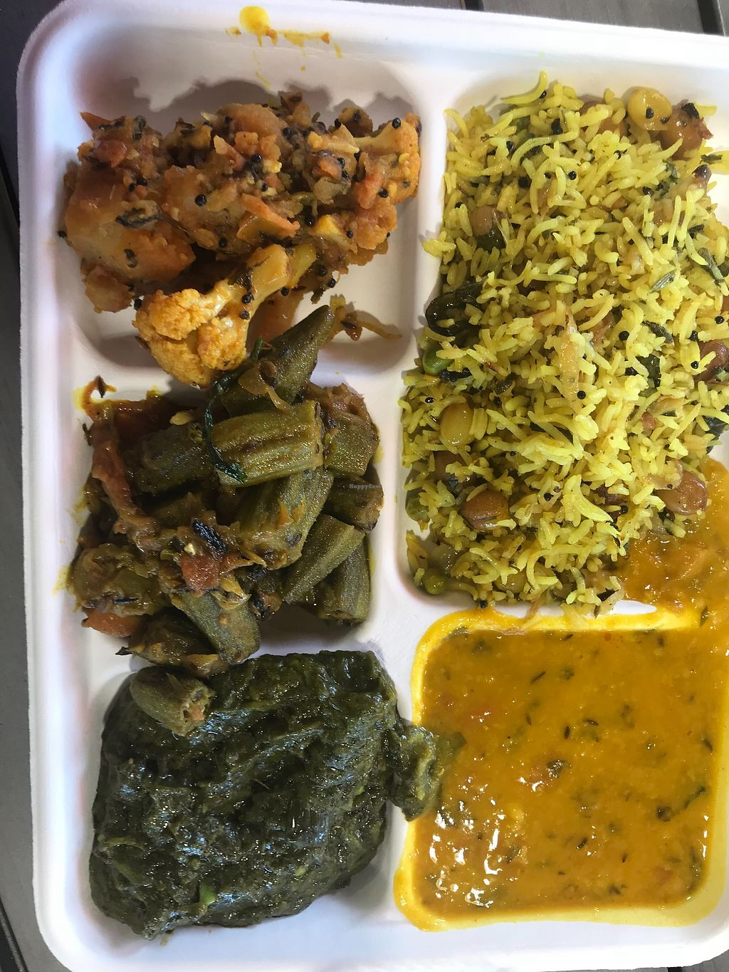 """Photo of Namaste Spiceland  by <a href=""""/members/profile/animalattorney"""">animalattorney</a> <br/>Vegan Options at Spiceland Lunch =) <br/> February 13, 2018  - <a href='/contact/abuse/image/107206/358815'>Report</a>"""