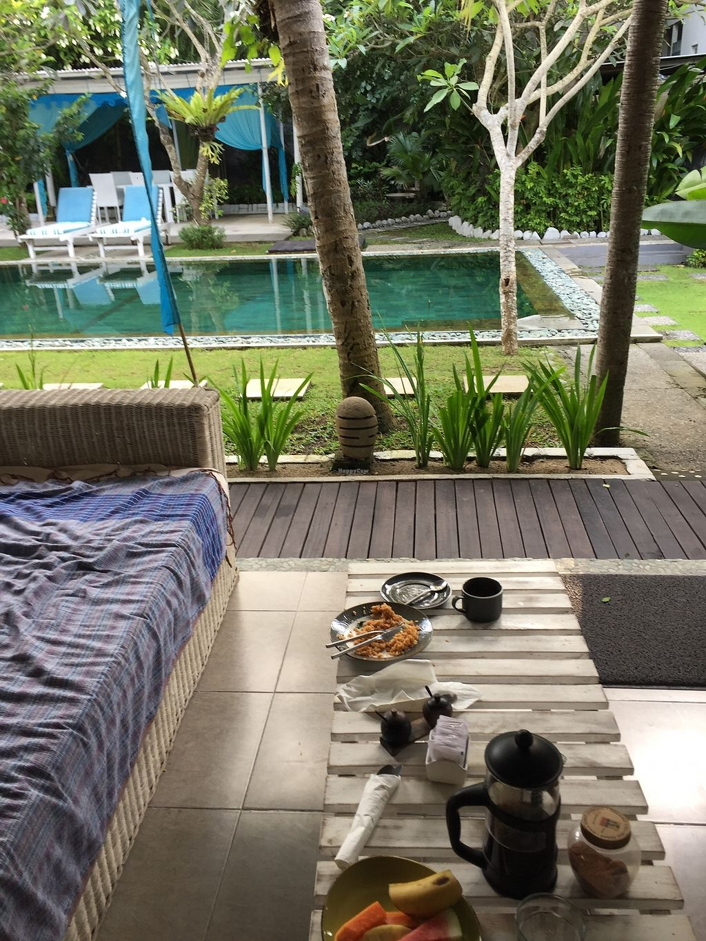 "Photo of Aquaria Eco Resort  by <a href=""/members/profile/Margaret.Hanna10"">Margaret.Hanna10</a> <br/>Great food, vegan and vegetarian options. Very helpful staff and no request is too hard. Balinese breakfast on our terrace.  <br/> December 15, 2017  - <a href='/contact/abuse/image/107212/335661'>Report</a>"