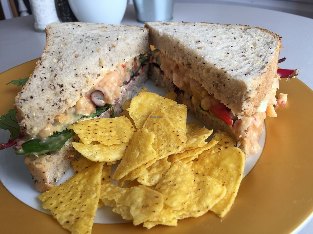 "Photo of Sundowners  by <a href=""/members/profile/RhianWhite"">RhianWhite</a> <br/>Chickpea and sweet chilli mayo sandwich. Delicious! <br/> April 11, 2018  - <a href='/contact/abuse/image/107233/383791'>Report</a>"