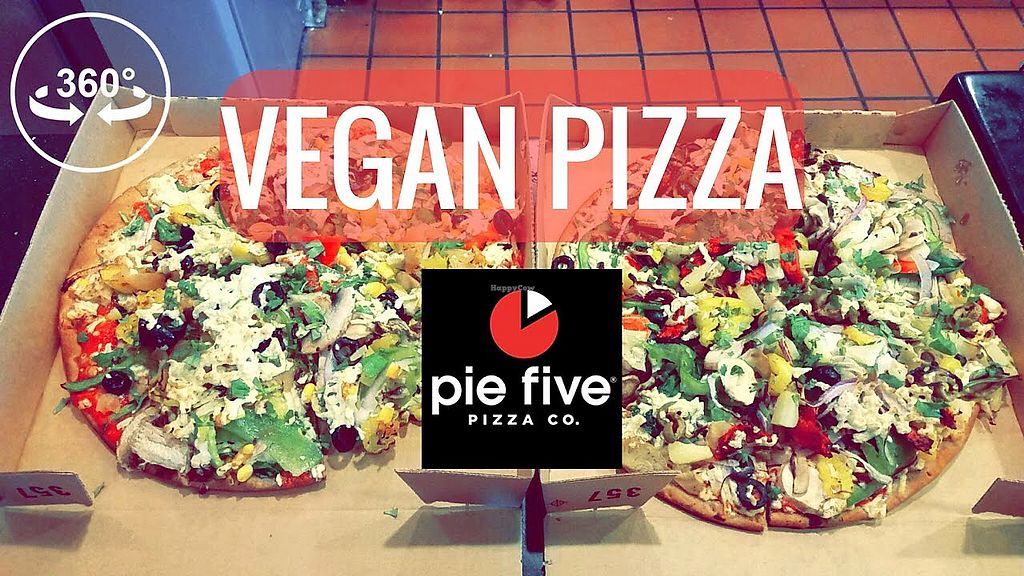 """Photo of Pie Five Pizza  by <a href=""""/members/profile/ErinPhalan"""">ErinPhalan</a> <br/>Gluten free /vegan options available <br/> January 20, 2018  - <a href='/contact/abuse/image/107252/348788'>Report</a>"""