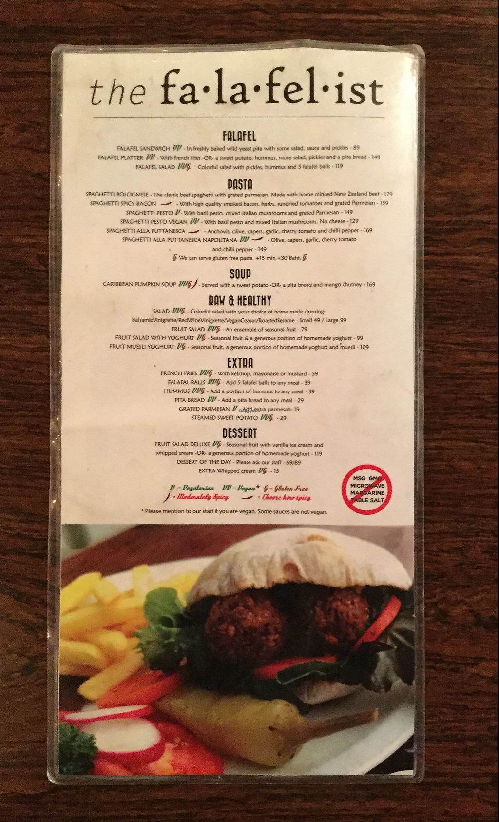 """Photo of The Falafelist  by <a href=""""/members/profile/Mike%20Munsie"""">Mike Munsie</a> <br/>menu 1 <br/> February 9, 2018  - <a href='/contact/abuse/image/107269/356752'>Report</a>"""