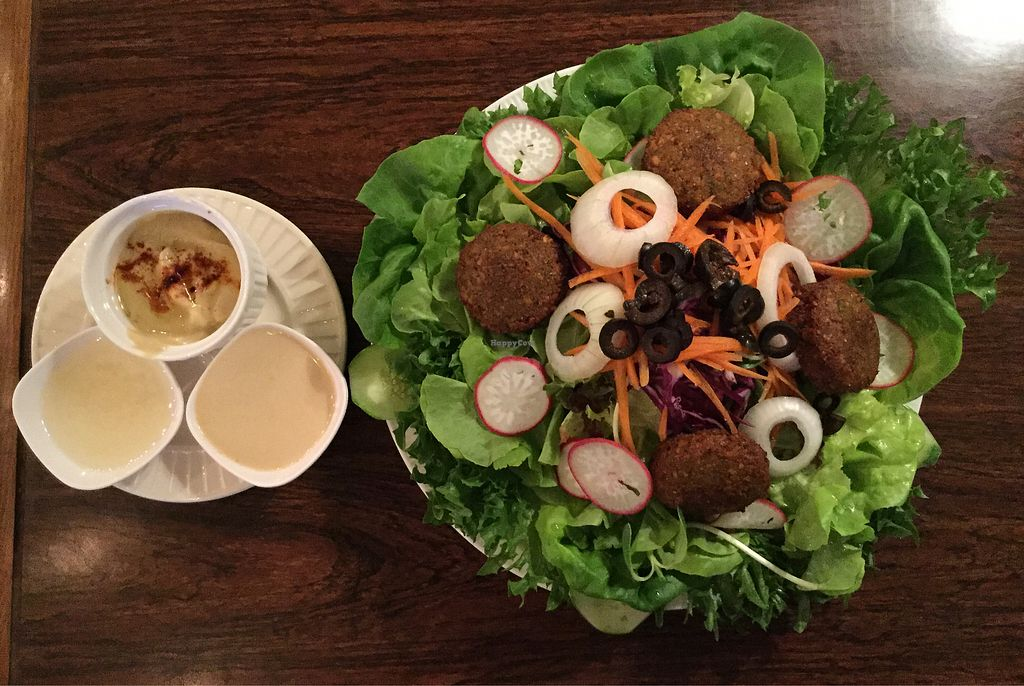 """Photo of The Falafelist  by <a href=""""/members/profile/Mike%20Munsie"""">Mike Munsie</a> <br/>falafel salad <br/> February 9, 2018  - <a href='/contact/abuse/image/107269/356755'>Report</a>"""