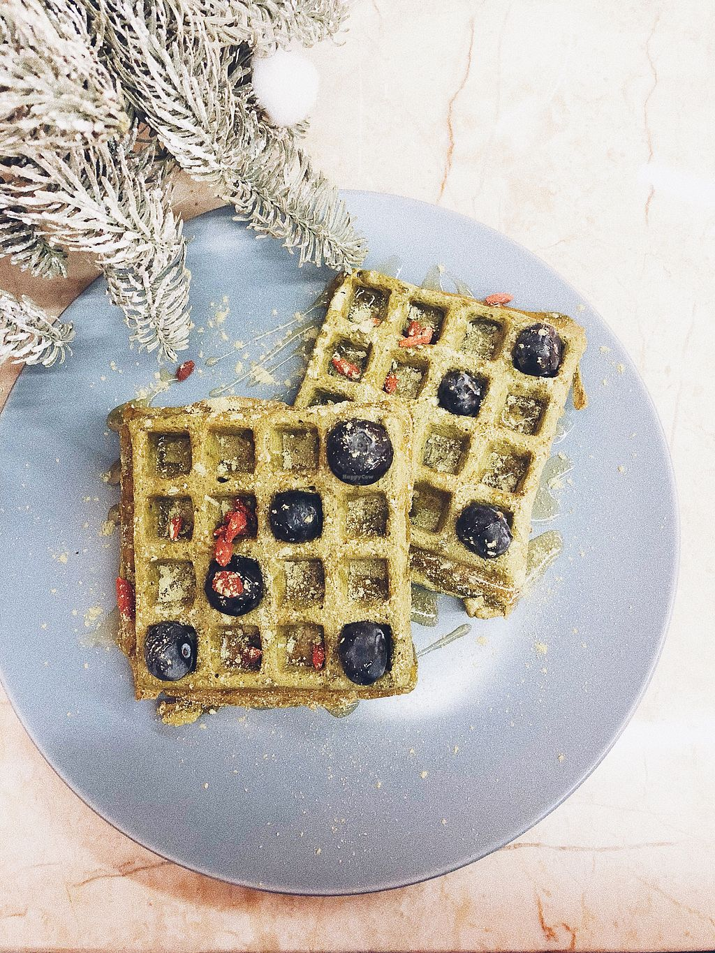 """Photo of SML Deli Coffee Shop  by <a href=""""/members/profile/Evgenia"""">Evgenia</a> <br/>Matcha waffles  <br/> January 9, 2018  - <a href='/contact/abuse/image/107273/344738'>Report</a>"""