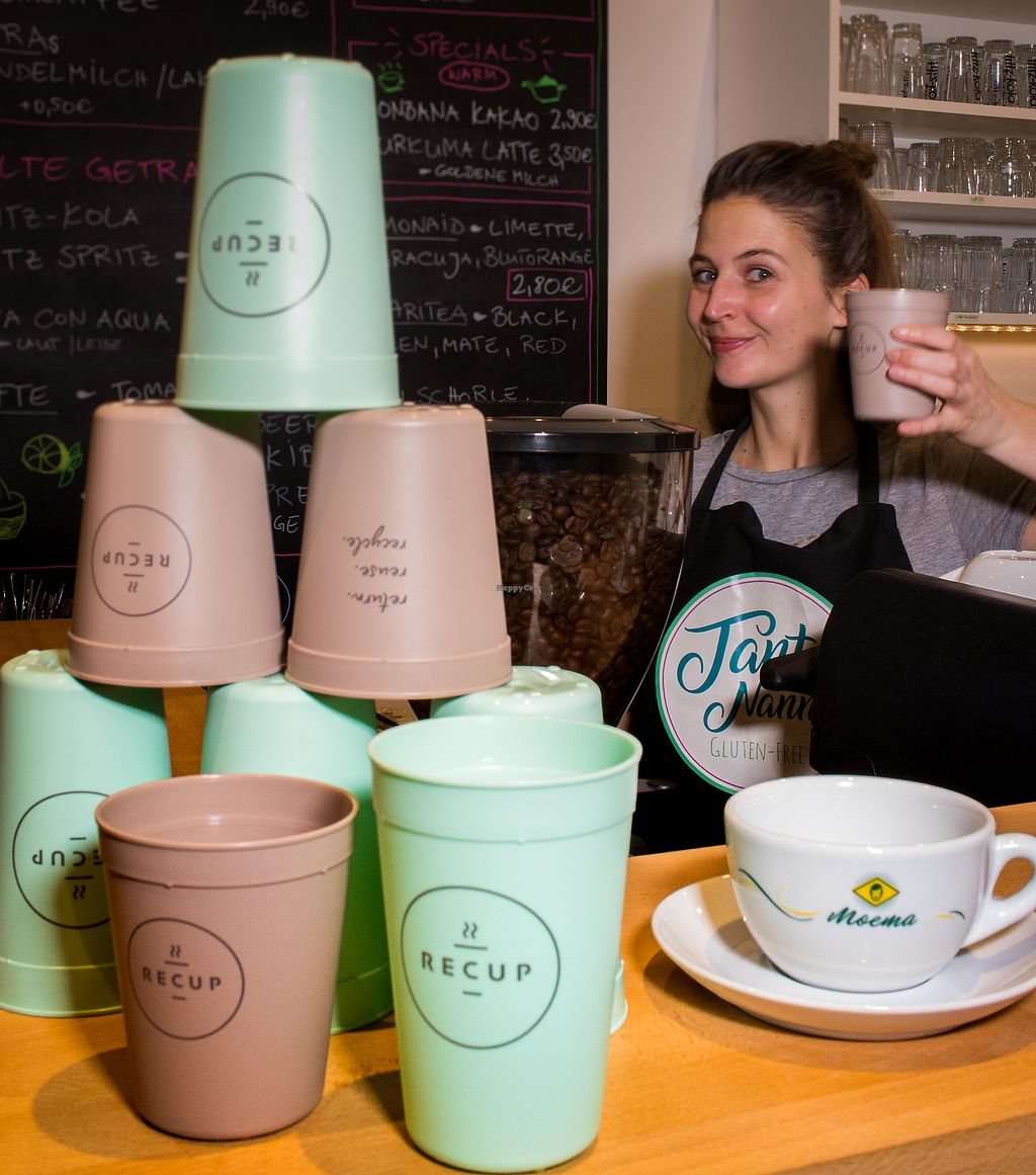 """Photo of Cafe Tante Nanni  by <a href=""""/members/profile/cafetantenanni"""">cafetantenanni</a> <br/>Café uses recycable cups from RECUP <br/> December 19, 2017  - <a href='/contact/abuse/image/107286/337298'>Report</a>"""