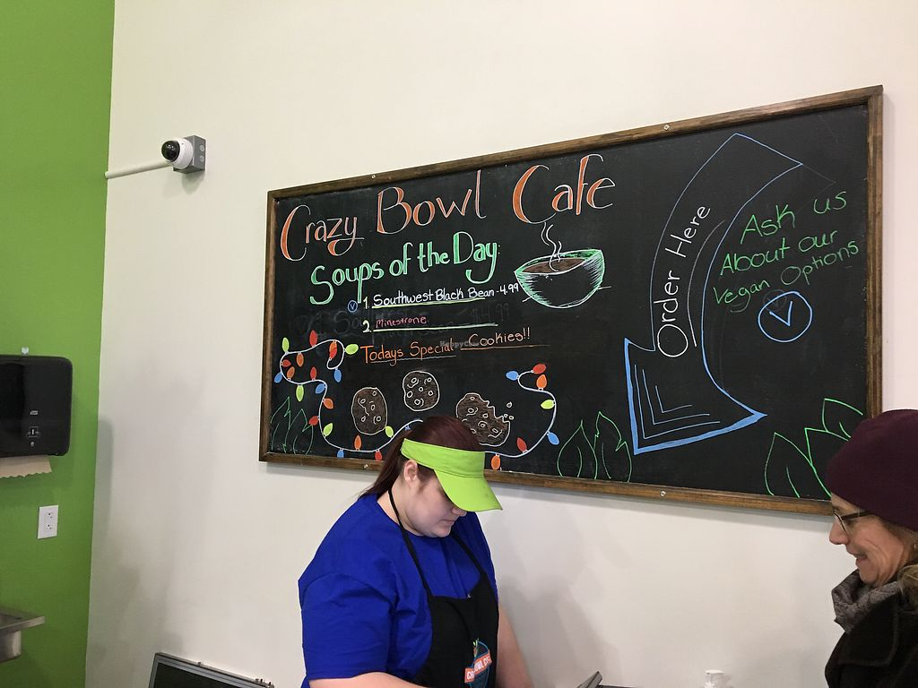"""Photo of Crazy Bowl Cafe  by <a href=""""/members/profile/Michael%20Isavegan"""">Michael Isavegan</a> <br/>Crazy Bowl <br/> December 19, 2017  - <a href='/contact/abuse/image/107288/337118'>Report</a>"""