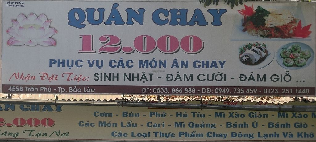 "Photo of Quan Chay 12.000  by <a href=""/members/profile/Canamon"">Canamon</a> <br/>Outdoors sign <br/> December 16, 2017  - <a href='/contact/abuse/image/107291/336094'>Report</a>"