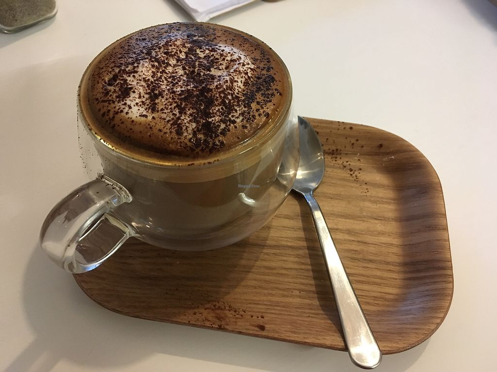 """Photo of the third cafe  by <a href=""""/members/profile/Frijoles"""">Frijoles</a> <br/>Soya cappuccino  <br/> December 15, 2017  - <a href='/contact/abuse/image/107299/335853'>Report</a>"""
