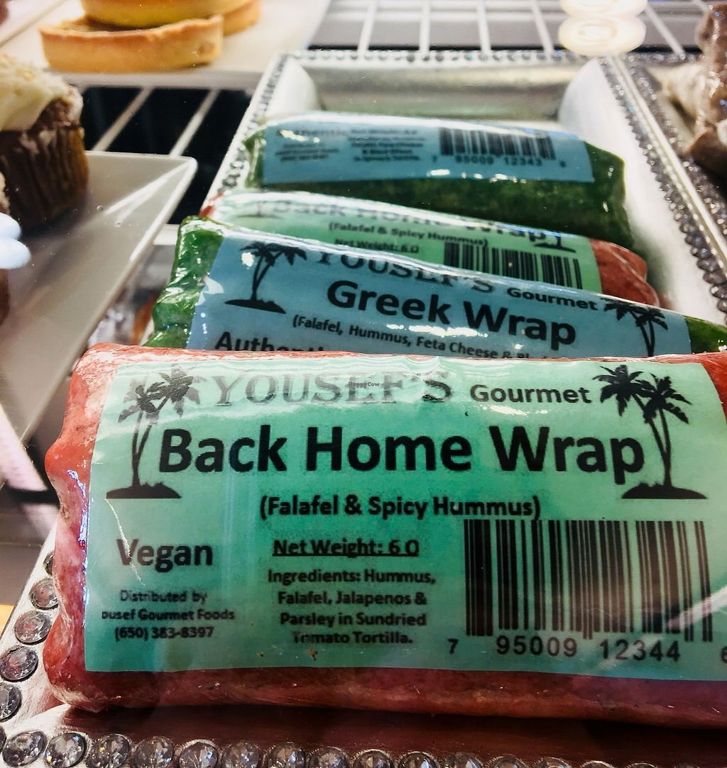 """Photo of 3 Bees Cafe  by <a href=""""/members/profile/Clean%26Green"""">Clean&Green</a> <br/>Variety of vegan wraps <br/> December 15, 2017  - <a href='/contact/abuse/image/107313/335902'>Report</a>"""