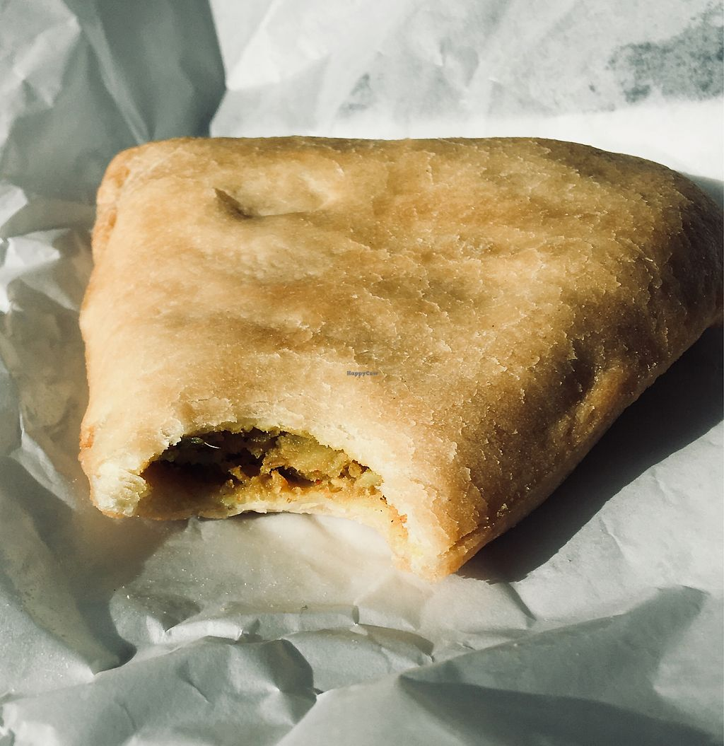 """Photo of 3 Bees Cafe  by <a href=""""/members/profile/Clean%26Green"""">Clean&Green</a> <br/>Veggie samosa  <br/> January 4, 2018  - <a href='/contact/abuse/image/107313/343042'>Report</a>"""