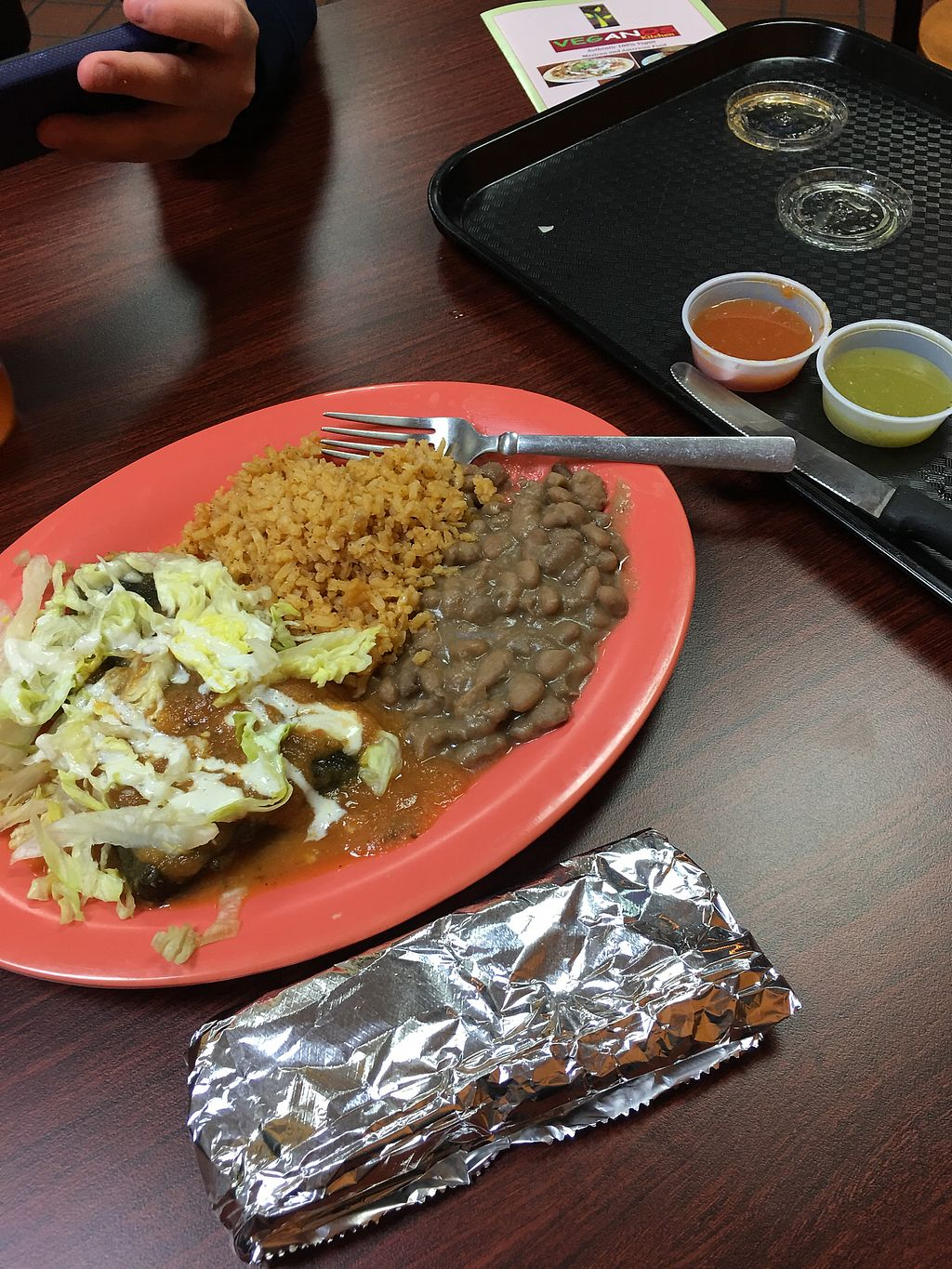 """Photo of Veganos Kitchen  by <a href=""""/members/profile/lvasquared"""">lvasquared</a> <br/>Very delicious Chile Relleno  <br/> February 13, 2018  - <a href='/contact/abuse/image/107317/358664'>Report</a>"""