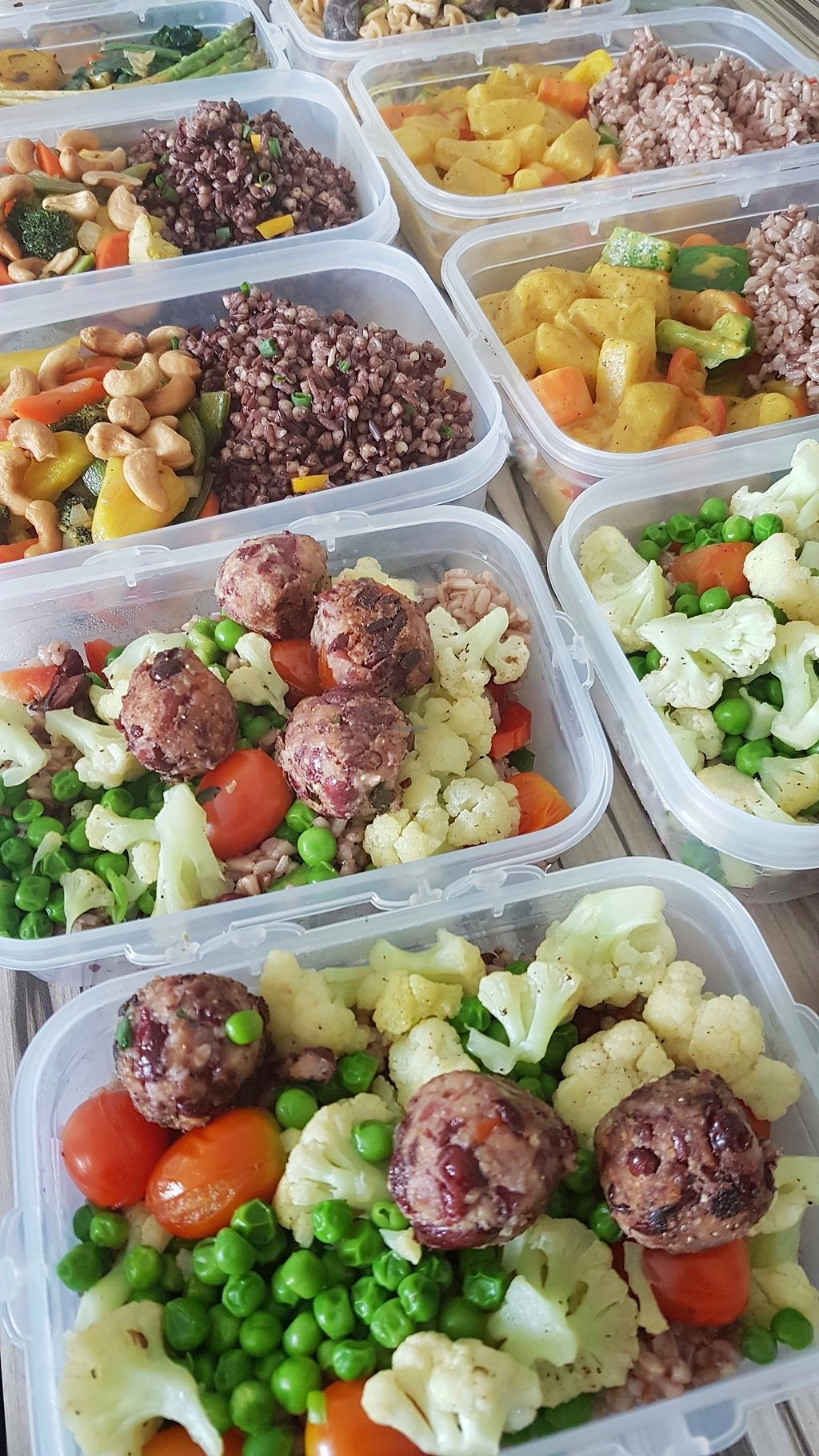 """Photo of Vegan Crush Food Delivery  by <a href=""""/members/profile/VeganCrush"""">VeganCrush</a> <br/>Fit protein balls on sautéed summer vegetables.  Colorful and healthy meals freshly prepared and delivered to you every Monday.  <br/> December 17, 2017  - <a href='/contact/abuse/image/107331/336432'>Report</a>"""