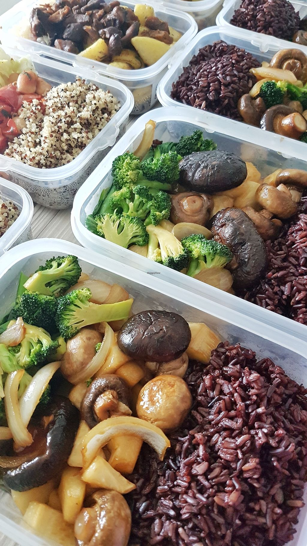 """Photo of Vegan Crush Food Delivery  by <a href=""""/members/profile/VeganCrush"""">VeganCrush</a> <br/>Sautéed portobello mushroom in teriyaki sauce and blueberry rice.   Colorful and healthy meals freshly prepared and delivered to you every Monday.  <br/> December 17, 2017  - <a href='/contact/abuse/image/107331/336434'>Report</a>"""