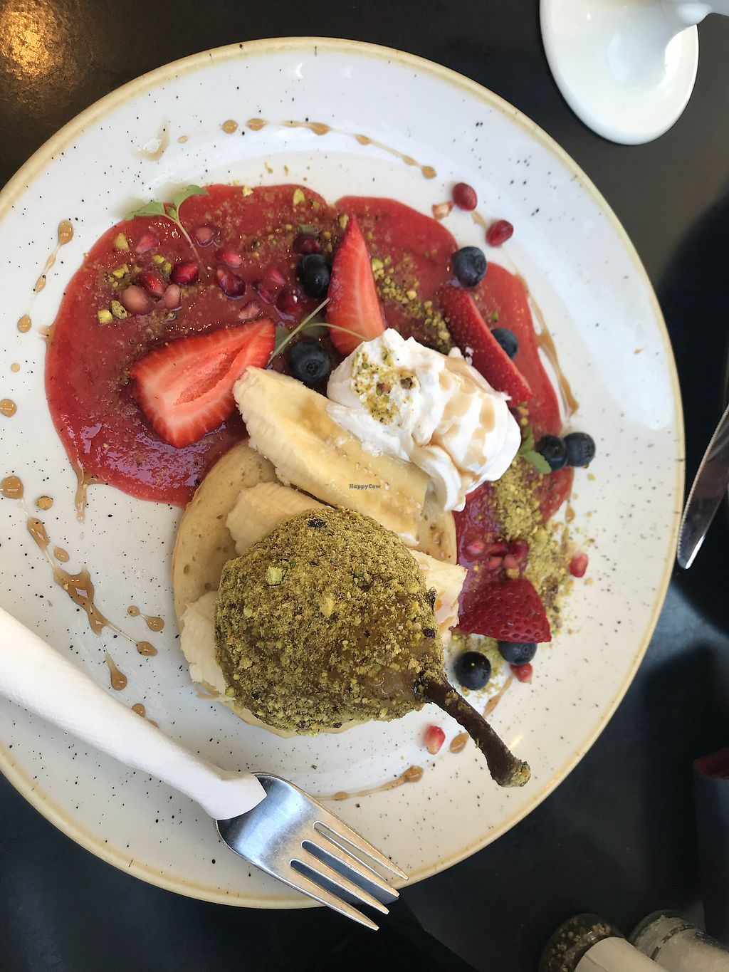 """Photo of Deedot Coffee  by <a href=""""/members/profile/NirvanaRoseWilliams"""">NirvanaRoseWilliams</a> <br/>Crumpet with pear <br/> January 9, 2018  - <a href='/contact/abuse/image/107334/344838'>Report</a>"""