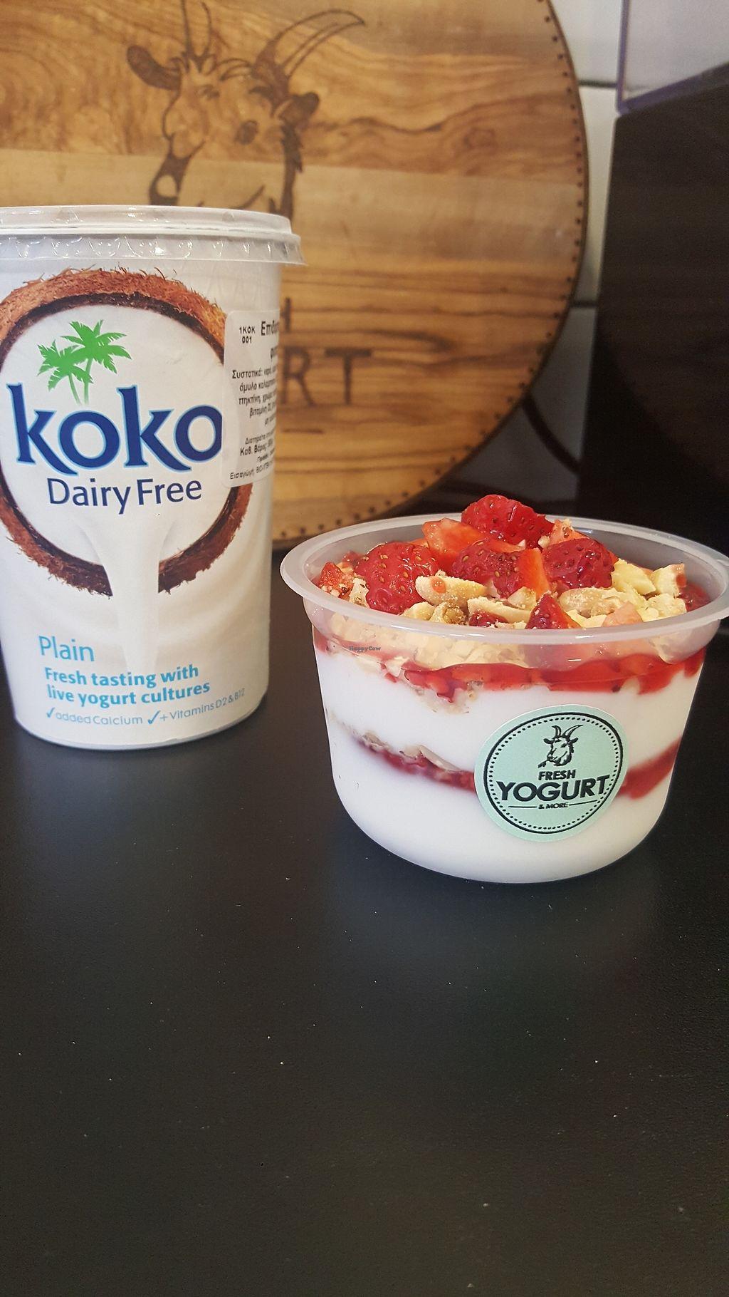 "Photo of Fresh Yogurt & More  by <a href=""/members/profile/EvageliaTsampala"">EvageliaTsampala</a> <br/>Coconut yogurt with fresh strawberries-nuts & chia seeds  <br/> February 21, 2018  - <a href='/contact/abuse/image/107353/362007'>Report</a>"