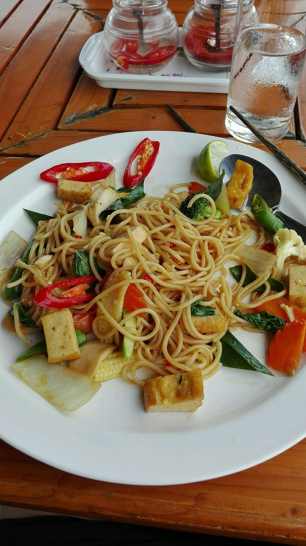 """Photo of Pinto Restaurant  by <a href=""""/members/profile/Escarabajo"""">Escarabajo</a> <br/>spicy Spaghetti with tofu <br/> January 31, 2018  - <a href='/contact/abuse/image/107357/353127'>Report</a>"""
