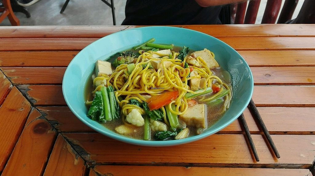 """Photo of Pinto Restaurant  by <a href=""""/members/profile/Escarabajo"""">Escarabajo</a> <br/>yellow noodels with veggies and tofu <br/> January 31, 2018  - <a href='/contact/abuse/image/107357/353128'>Report</a>"""