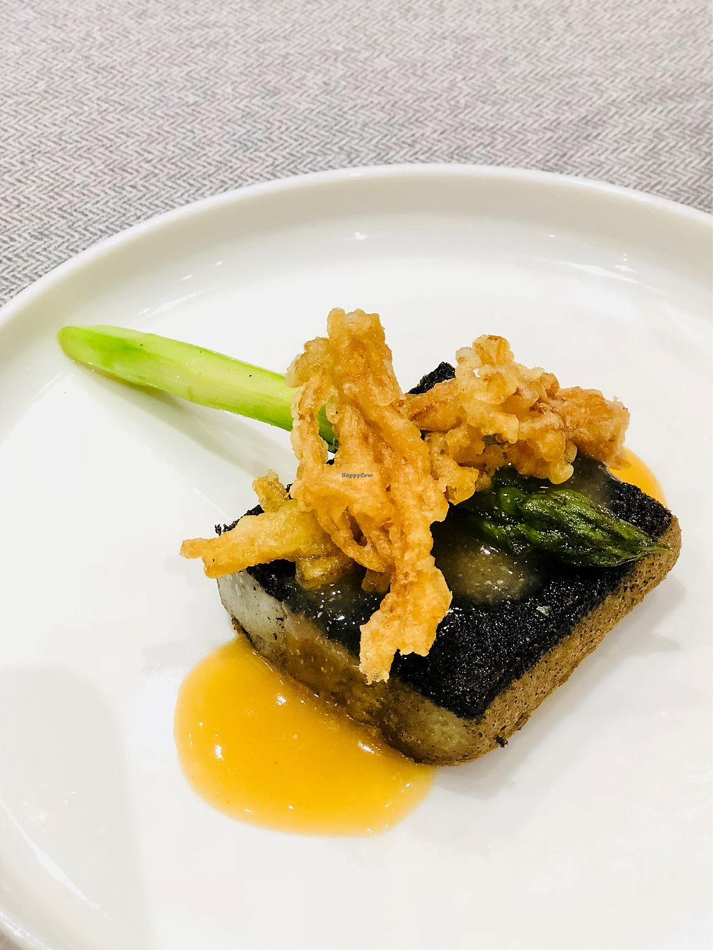 """Photo of Elemen - HarbourFront   by <a href=""""/members/profile/CherylQuincy"""">CherylQuincy</a> <br/>Charcoal Beancurd with Golden Oyster Mushroom <br/> January 20, 2018  - <a href='/contact/abuse/image/107366/348637'>Report</a>"""