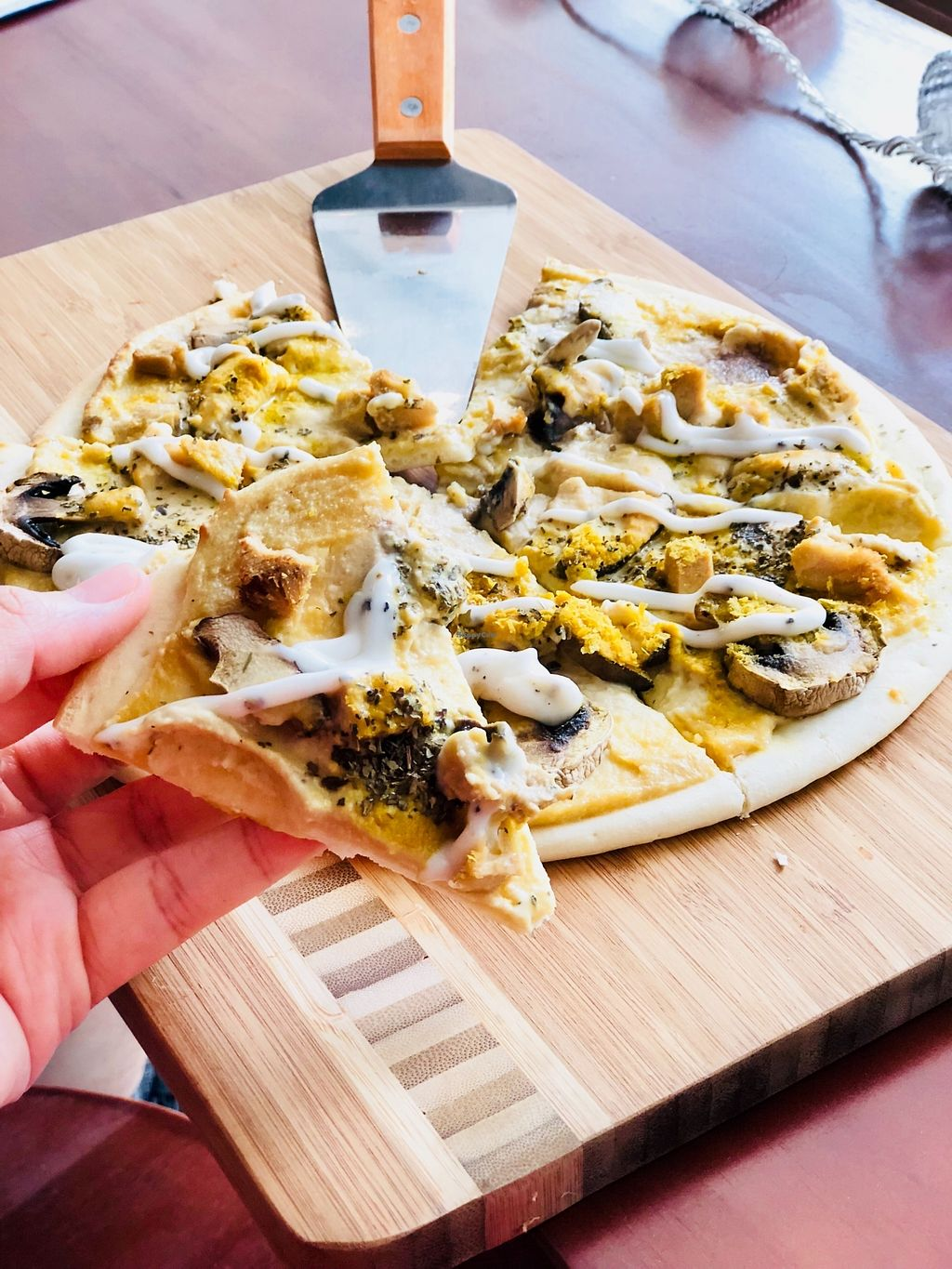 "Photo of Cozy Corner  by <a href=""/members/profile/CherylQuincy"">CherylQuincy</a> <br/>King truffle mushroom pizza <br/> February 9, 2018  - <a href='/contact/abuse/image/107367/356915'>Report</a>"