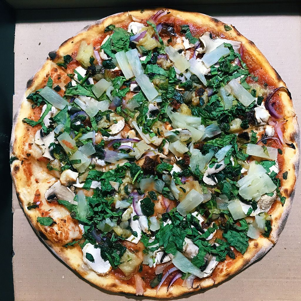 "Photo of WTF Pizza  by <a href=""/members/profile/veganoteacher"">veganoteacher</a> <br/>Vegan Pizza Night <br/> March 31, 2018  - <a href='/contact/abuse/image/107378/378962'>Report</a>"