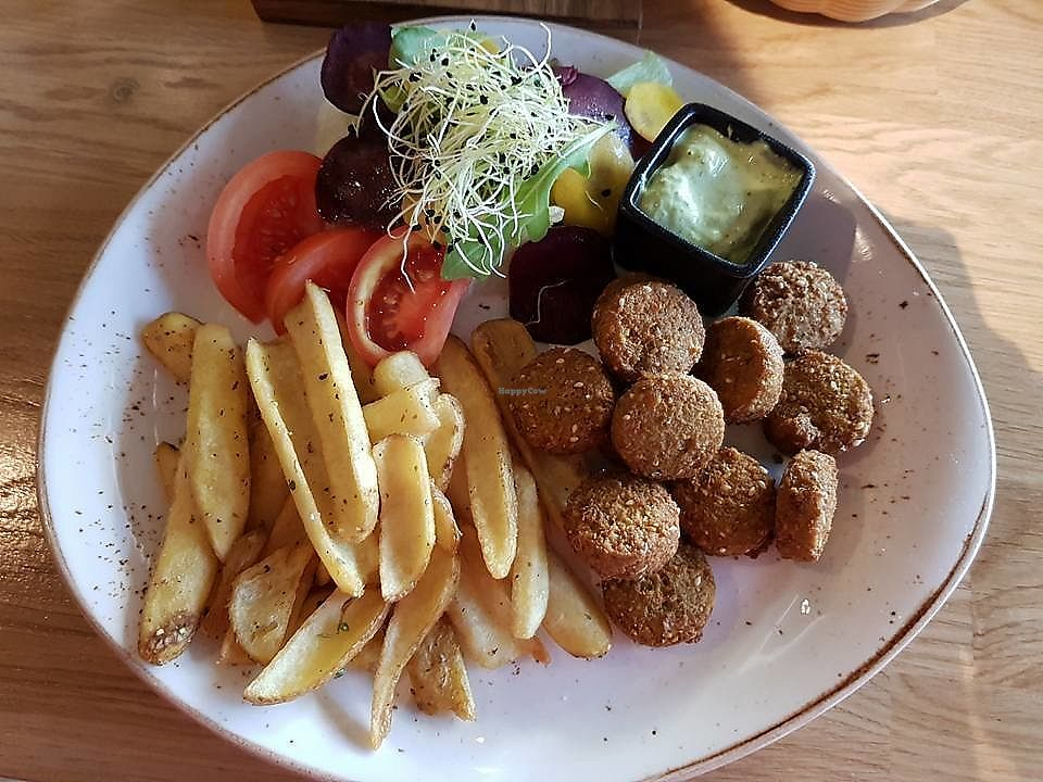 """Photo of Pepper Grey  by <a href=""""/members/profile/RokasKoveckis"""">RokasKoveckis</a> <br/>falafel, fried potato, vegetables, sauce <br/> December 17, 2017  - <a href='/contact/abuse/image/107389/336415'>Report</a>"""