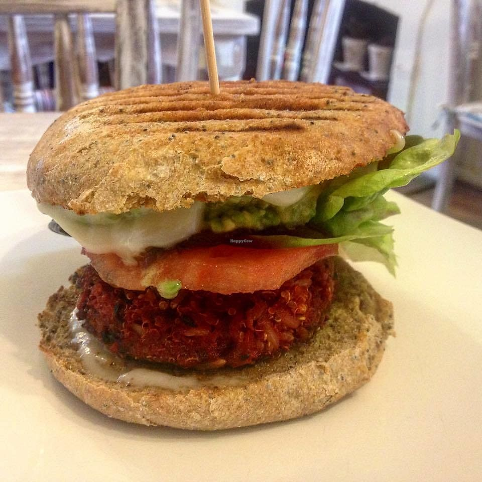 "Photo of Charly's Coffee   by <a href=""/members/profile/carlosnaranjo"">carlosnaranjo</a> <br/>veggie burger <br/> December 19, 2017  - <a href='/contact/abuse/image/107397/337293'>Report</a>"