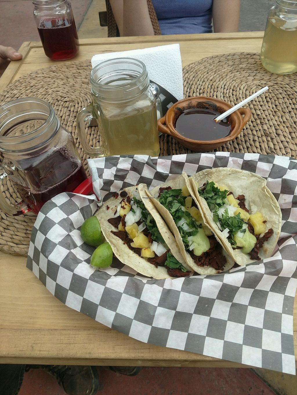 """Photo of V Hopes  by <a href=""""/members/profile/PaganMistress"""">PaganMistress</a> <br/>Al Pastor tacos y agua frescas <br/> January 8, 2018  - <a href='/contact/abuse/image/107402/344225'>Report</a>"""