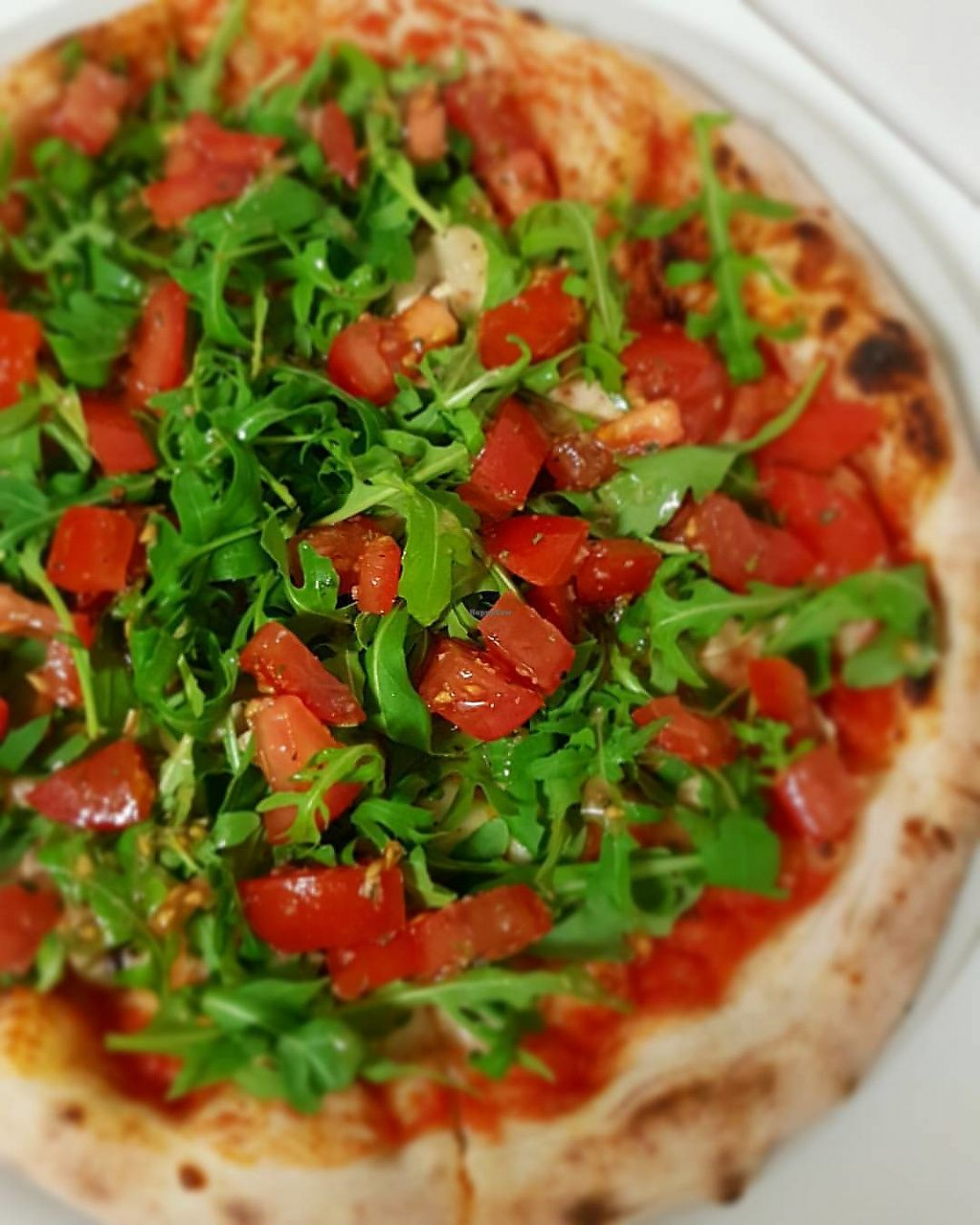"""Photo of Pas Francesco  by <a href=""""/members/profile/RokasKoveckis"""">RokasKoveckis</a> <br/>vegan pizza(mushrooms, rucola and tomatoes) <br/> December 17, 2017  - <a href='/contact/abuse/image/107406/336421'>Report</a>"""