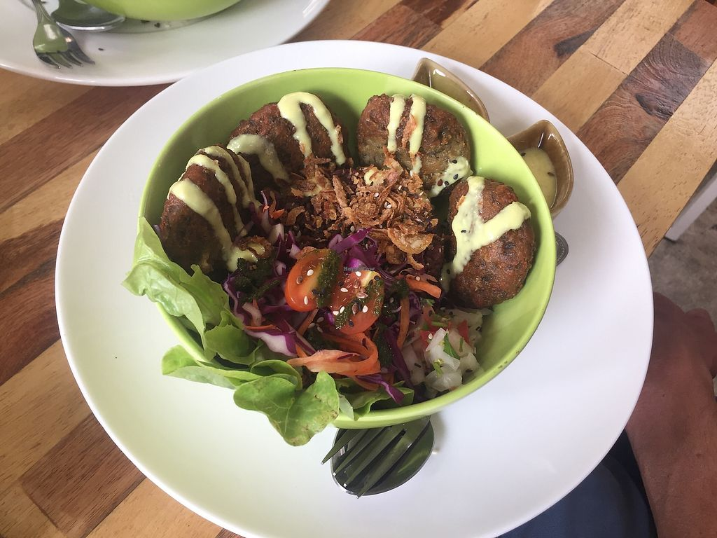 """Photo of Pure Vegan Heaven  by <a href=""""/members/profile/Mustarda"""">Mustarda</a> <br/>Falafel dish <br/> February 5, 2018  - <a href='/contact/abuse/image/107419/355257'>Report</a>"""