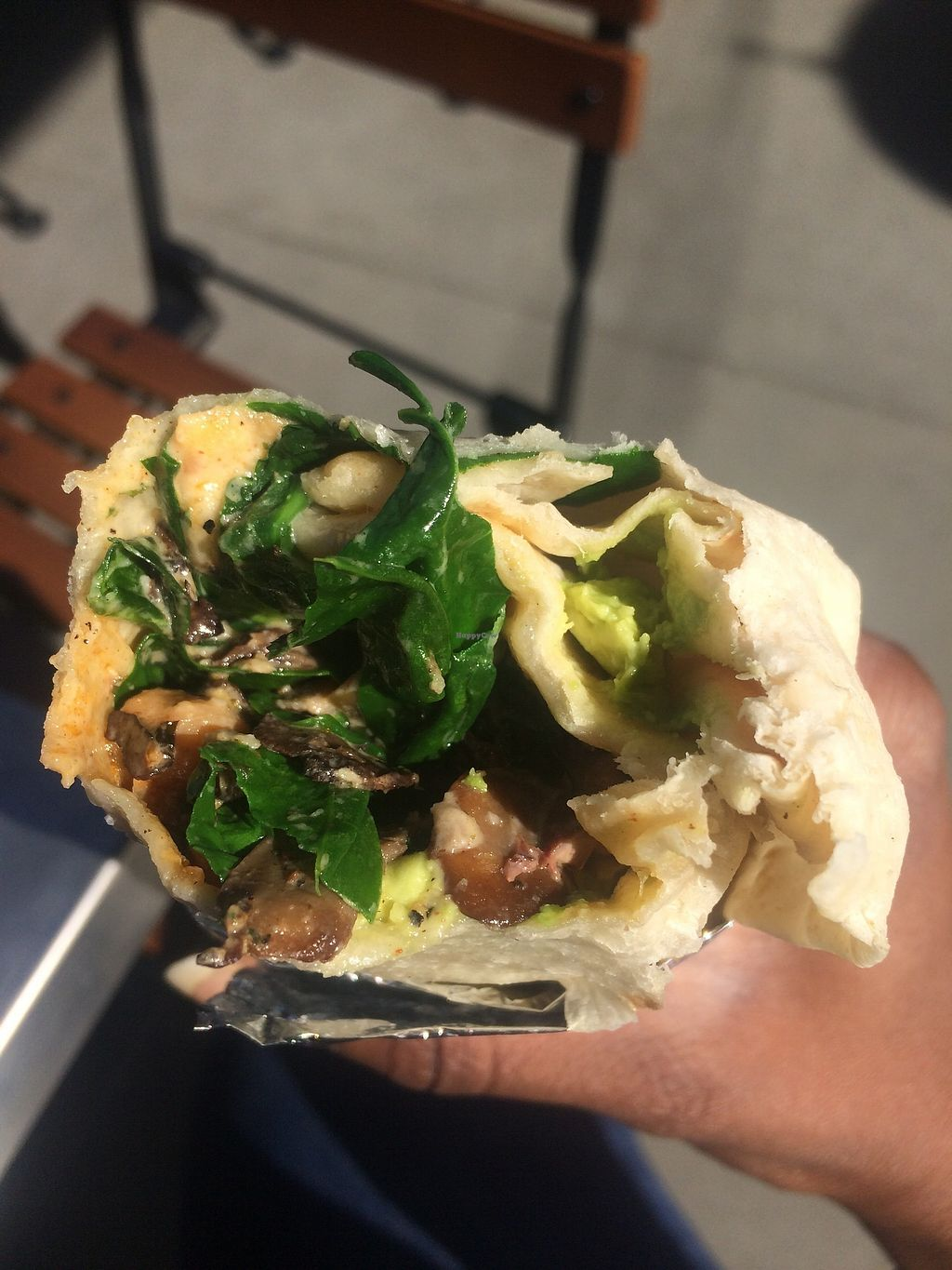 "Photo of Cafe Smitten  by <a href=""/members/profile/glassesgirl79"">glassesgirl79</a> <br/>Vegan burrito  <br/> December 17, 2017  - <a href='/contact/abuse/image/107421/336650'>Report</a>"